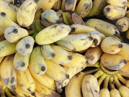 ripen: Pile of ripen tropic bananas. Stock Photo