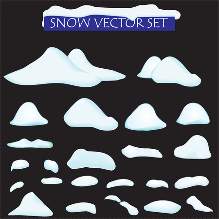 Iceberg covered snow big set cartoon. Ice and Icebergs in isometric 3d flat style. Set of different ice block, isolated for Video Game