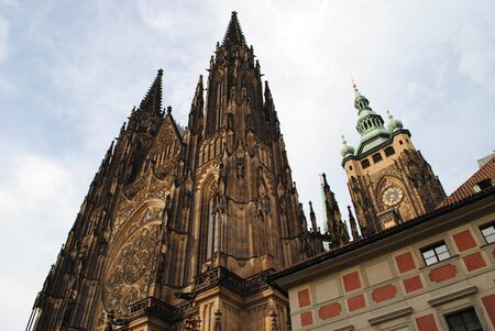 St. Vitus Cathedral Prague Czech Republic Stock Photo
