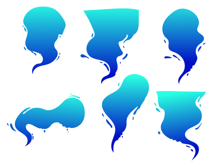 Vector cartoon bubble, comics bublle with shape of splash of water