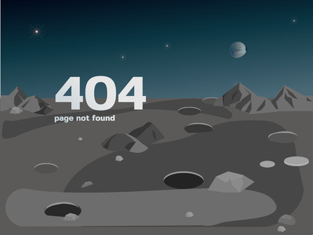 Error page 404 for the website. Web page with 404 error notification. Page not found.