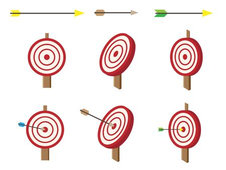 Isometric  target with arrows set