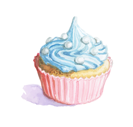 for the new year and happy with blue cream on white background