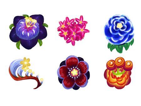 Set of different fantastic colors Çizim