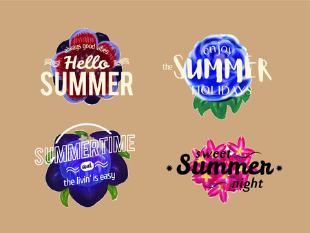 Vector summer banners with flower