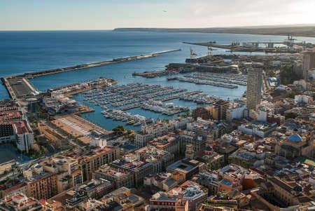 alicante: Alicante harbour Stock Photo