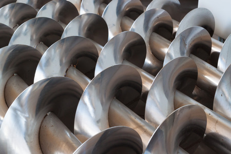 Steel augers closeup Stock Photo