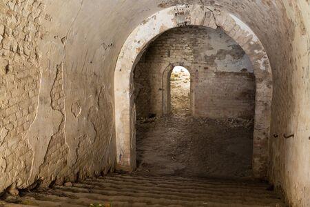 ancient pass: Ruins  inside the fort Tarakanovskiy. Brick arches. Dubno. Ukraine