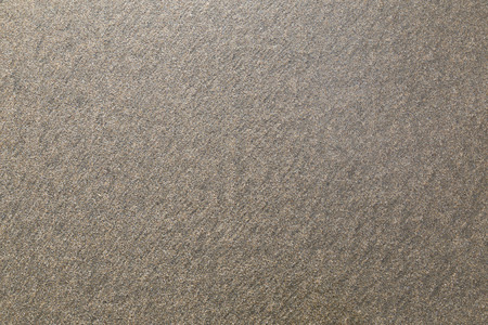 sandy brown: background of small homogeneous  gray sand on the seashore. texture.