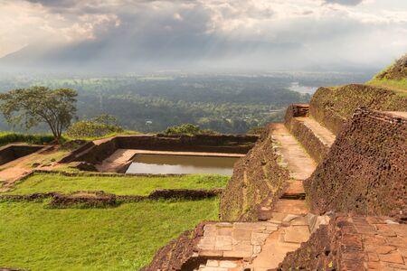 sigiriya: The ancient palace of SIGIRIYA in Sri Lanka Stock Photo