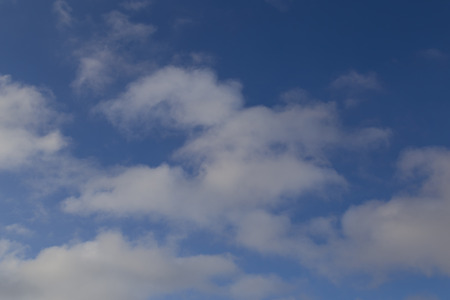 sky. delicate spindrift clouds  on a blue sky -  cloudy natural background Stock Photo