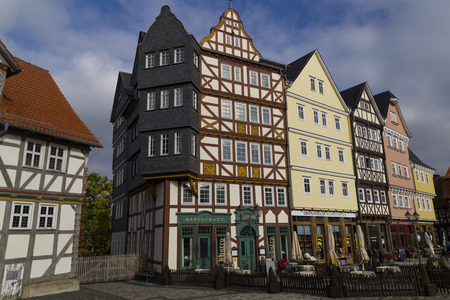 27/10/2016 . Hessenpark is an open-air museum, Hesse, Germany is a popular family destination . Ancient colorful historical half-timbered buildings  . National German cultural heritage. Concept of tourism, travel, tourist destination Editorial