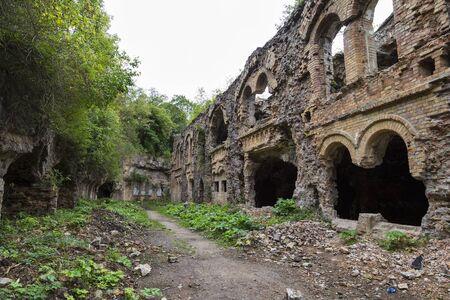 Tarakaniv ( Dubno) ruined fortress, fortification. Tarakanovskiy fort. Ukraine. Abandoned fortress outside. Tourist landmark
