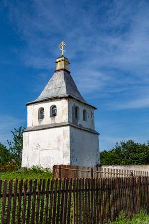 Old medieval orthodox church of St. Paraskevi outdoor, village Samchyky, Ukraine - architectural monument of national importance. Tourist landmark