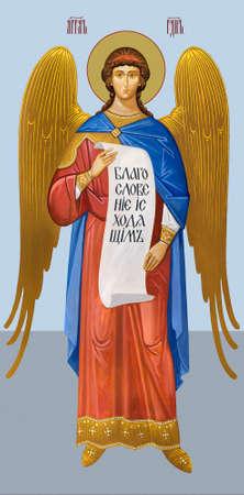 UKRAINE, ODESSA– JULY, 07, 2014: Icon of an angel.