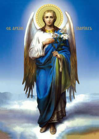 UKRAINE, ODESSA REGION, VILLAGE PETRODOLINSKOE - JULY, 02, 2012: Icon of the Archangel Gabriel.
