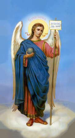 UKRAINE, ODESSA REGION, VILLAGE PETRODOLINSKOE - APRIL, 22, 2013: Icon of the Archangel Gabriel.