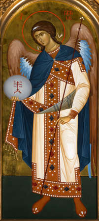 UKRAINE, ODESSA– APRIL, 12, 2016: Icon of the Archangel Gabriel.