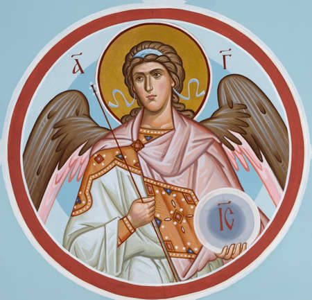 UKRAINE, ODESSA– JULY, 08, 2014: Icon of an angel. Editorial