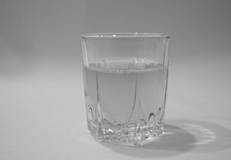 Shot glasses for vodka. Isolated on white background 版權商用圖片