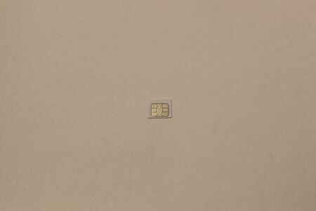 nano sim card for cellphone on white background.
