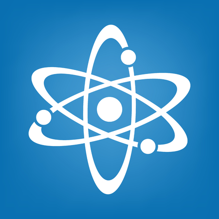 Atom icon vector simple Illustration