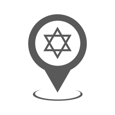 Synagogue map pointer icon vector. Illustration