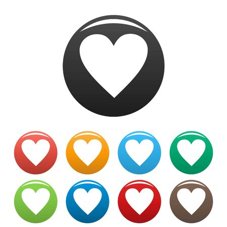 New heart icons set vector simple Stock Photo