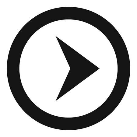 Arrow icon in black.