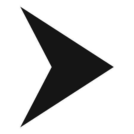 Icône de la flèche en vecteur noir simple