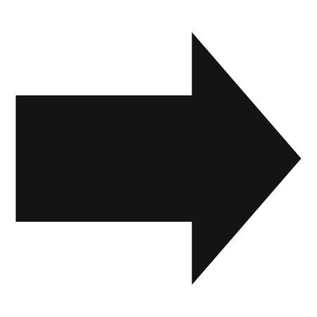 Arrow icon in black simple vector