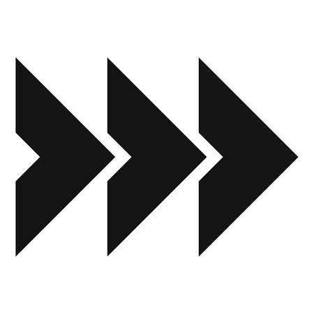 Icône de flèche en noir Illustration simple du vecteur d'icône de flèche isolé sur fond blanc
