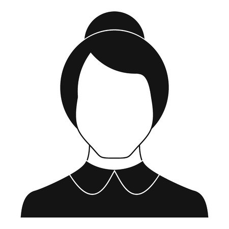 Female user icon vector simple