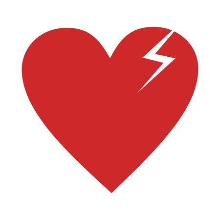Broken heart icon. Vector simple illustration of broken heart icon isolated on white background Illustration