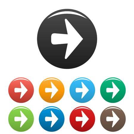 Arrow icons set simple Illustration