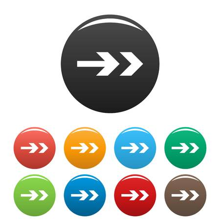 downgrade: Arrow icons set simple Illustration