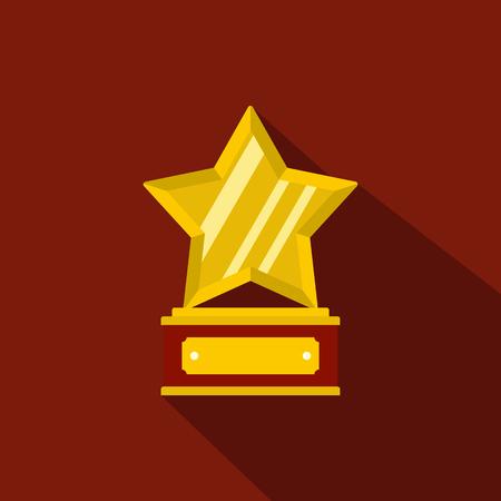 Star award icon. Flat illustration of star award vector icon for any web design
