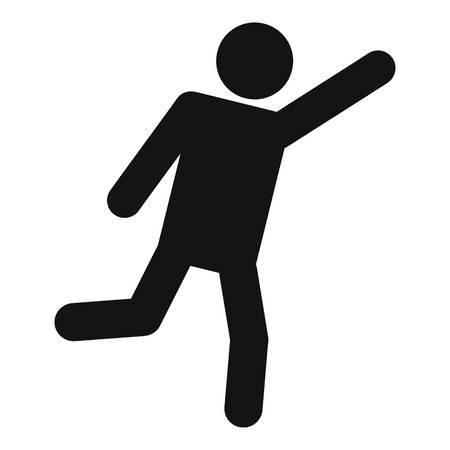Stok figuur stickman pictogram pictogram. Vector eenvoudige illustratie van stickman pictogram geïsoleerd op een witte achtergrond. Menselijk menselijk stokteken Stock Illustratie