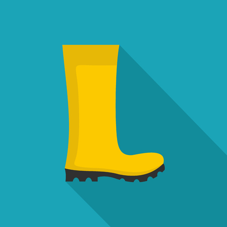 Rubber boots icon, illustration for any web design.