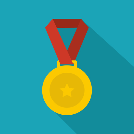 Medal icon. Flat illustration of medal vector icon for any web design Stock Photo