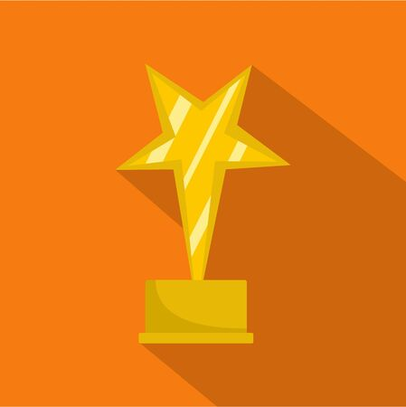 Star award icon vector flat