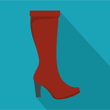 Woman boots icon vector flat