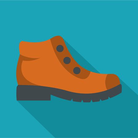 Vector de icono de botas de senderismo plana