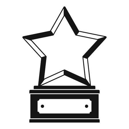 Star award icon vector simple