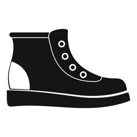 Hiking boots icon vector simple