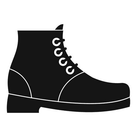 Senderismo botas icono vector simple