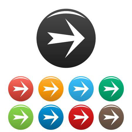 Arrow icons set. Simple illustration of arrow vector icons isolated on white background Illustration