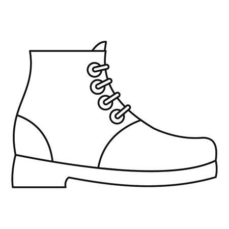Hiking boots icon illustration design.