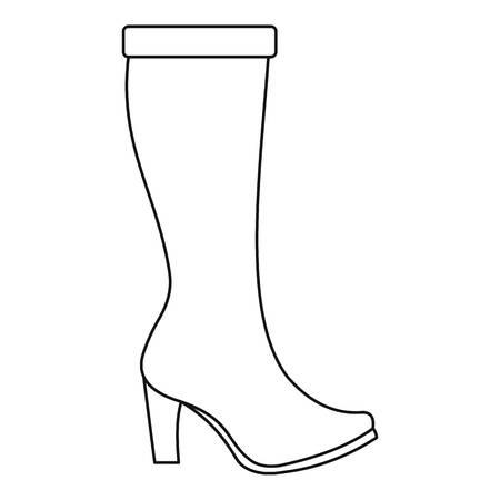Icono de botas de mujer. Ilustración de línea delgada de mujer botas icono de vector para cualquier diseño web
