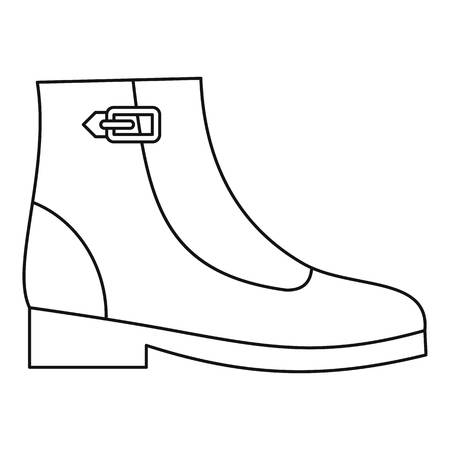 Woman boots icon illustration design. Vectores
